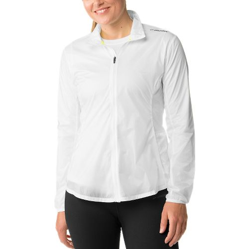 Womens Brooks LSD Lightweight Jackets - White XS