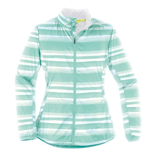 Womens Brooks LSD Lightweight Jackets - Surf Scape L