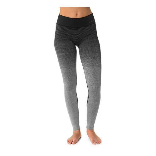 Womens Brooks Streaker Full Length Tights - Oxford/Black M