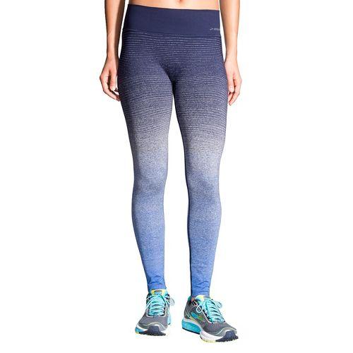 Womens Brooks Streaker Tights & Leggings Pants - Wave/Navy S