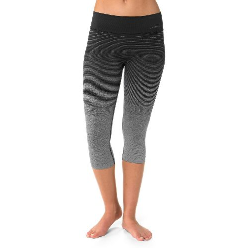 Womens Brooks Streaker Capri Tights - Oxford/Black S