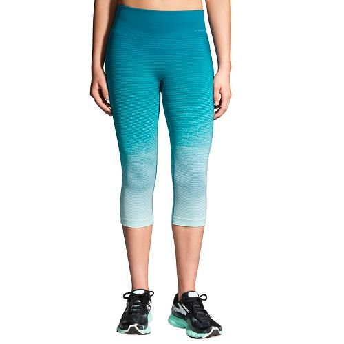 Womens Brooks Streaker Capri Tights - Sky/Tile M