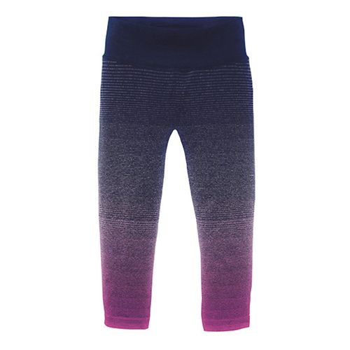Womens Brooks Streaker Capri Tights - Currant/Navy L