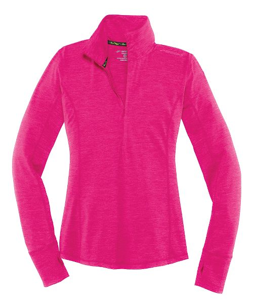 Womens Brooks Dash Half-Zips & Hoodies Technical Tops - Heather Bloom XS