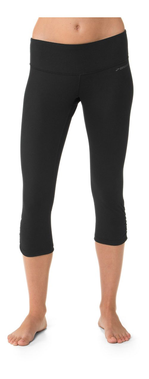 Womens Brooks Greenlight Capri Tights - Black L