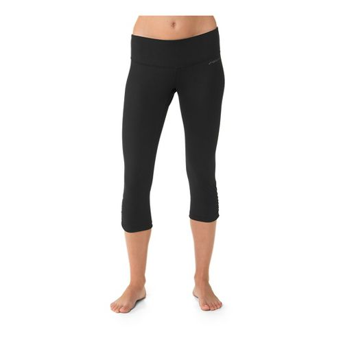 Womens Brooks Greenlight Capri Tights - Black S