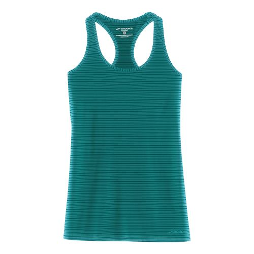Womens Brooks Go-To Tanks Technical Tops - Kale L