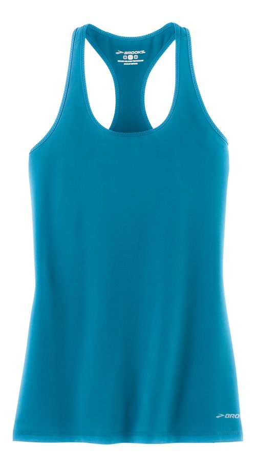 Womens Brooks Go-To Tanks Technical Tops - River XS