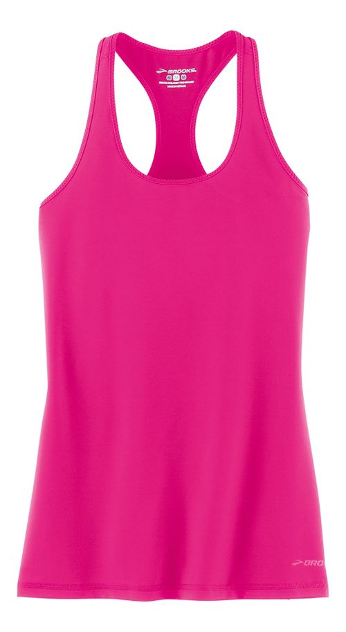 Womens Brooks Go-To Tanks Technical Tops - Bloom XS