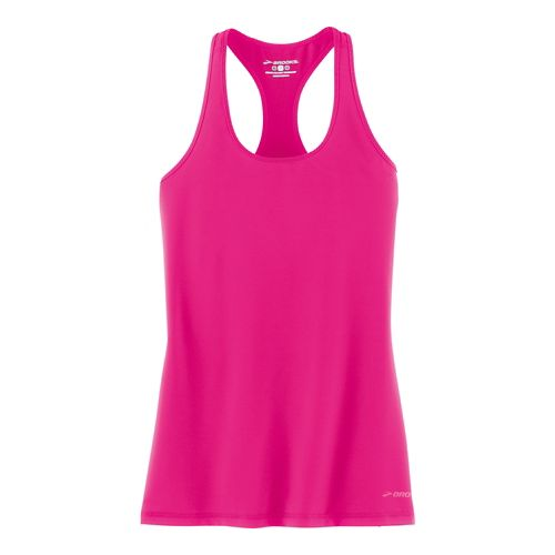 Womens Brooks Go-To Tanks Technical Tops - Bloom L