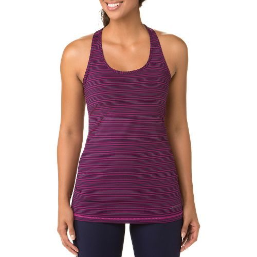 Womens Brooks Go-To Tanks Technical Tops - Currant/Navy S