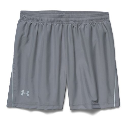 Mens Under Armour Launch Woven 5 Lined Short - Steel/Graphite L
