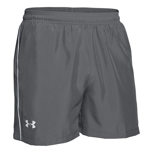 Mens Under Armour Launch Woven 5 Lined Shorts - Graphite M