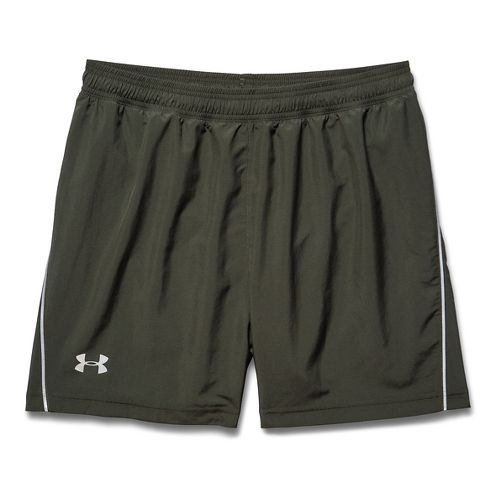 Mens Under Armour Launch Woven 5 Lined Short - Rifle Green XL
