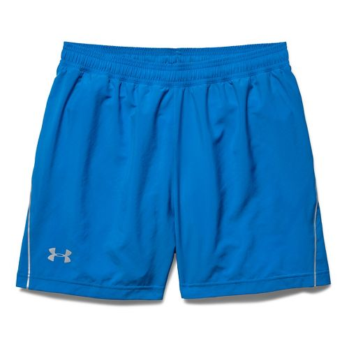 Mens Under Armour Launch Woven 5 Lined Short - Blue Jet/Black XL
