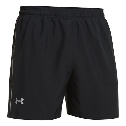 Mens Under Armour Launch Woven 5 Lined Short - Black/Black M