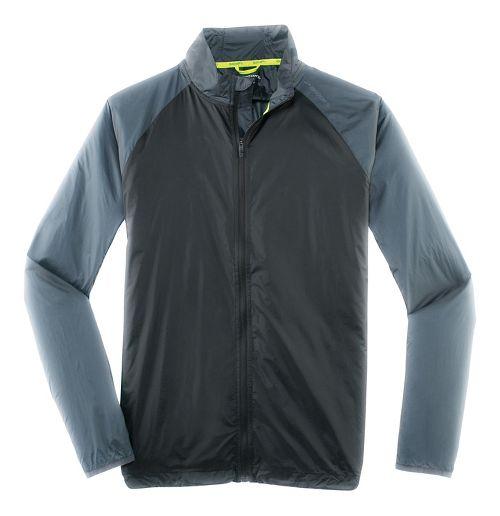 Mens Brooks LSD Outerwear Jackets - Black/Asphalt L