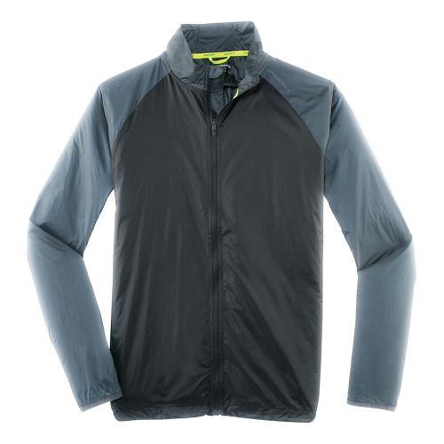 Mens Brooks LSD Outerwear Jackets - Black/Asphalt M