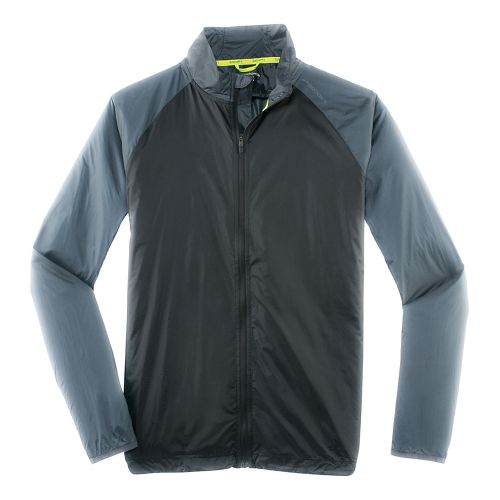 Mens Brooks LSD Outerwear Jackets - Black/Asphalt S