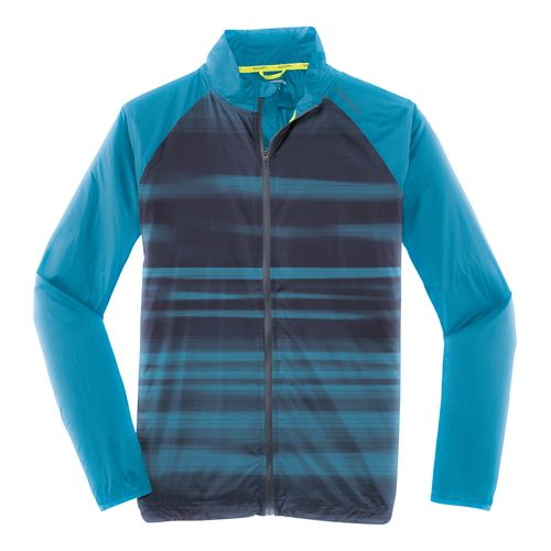 Mens Brooks LSD Outerwear Jackets - River Blur S