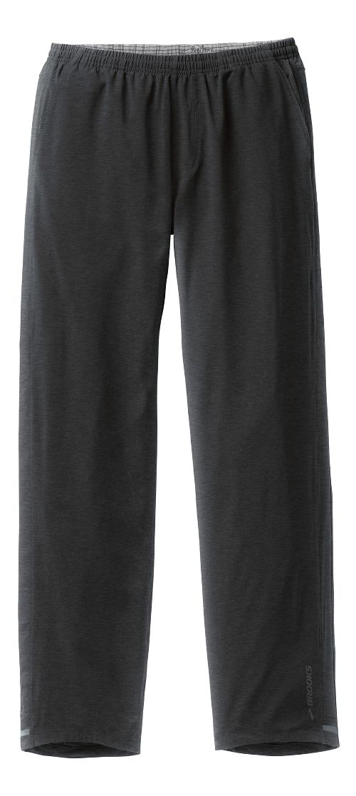 Mens Brooks Rush Full Length Pants - Heather/Black M
