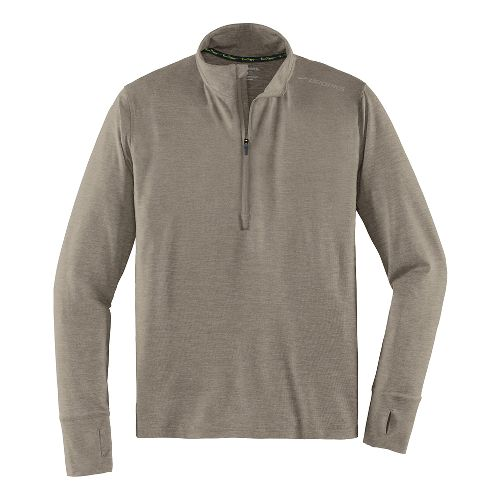 Mens Brooks Dash Long Sleeve Half Zip & Hoodies Technical Tops - Heather Carb XL ...