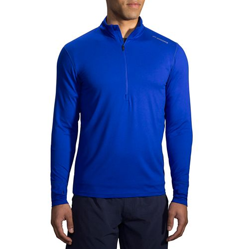 Mens Brooks Dash Long Sleeve Half Zip & Hoodies Technical Tops - Cobalt M