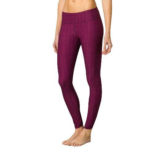 Womens Prana Misty Legging Full Length Tights - Plum Jacquard S