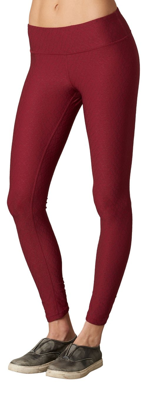 Womens Prana Misty Legging Full Length Tights - Red XL