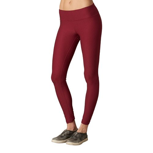 Womens Prana Misty Legging Full Length Tights - Red XL