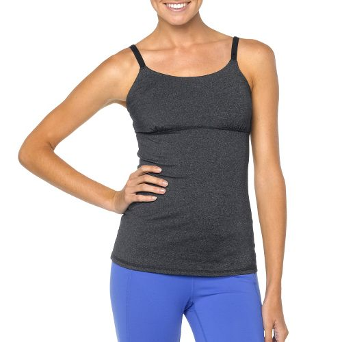 Womens Prana Nixie Top Sleeveless & Tank Technical Tops - Charcoal Heather XS