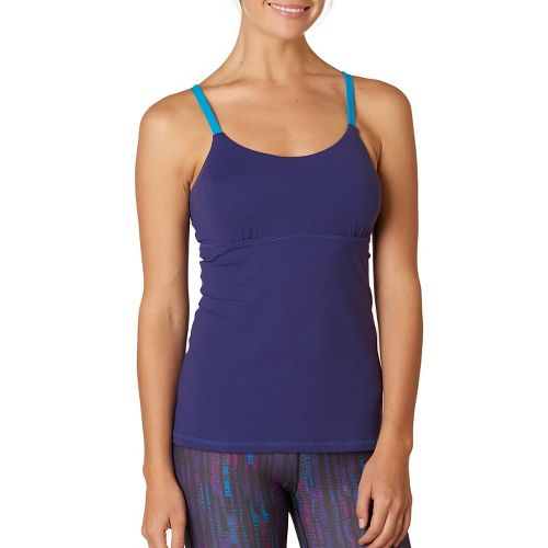 Womens Prana Nixie Top Sleeveless & Tank Technical Tops - Indigo S