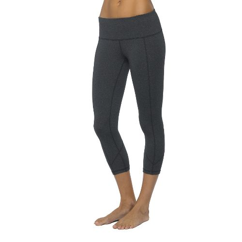 Womens Prana Prism Capri Tights - Charcoal Heather S