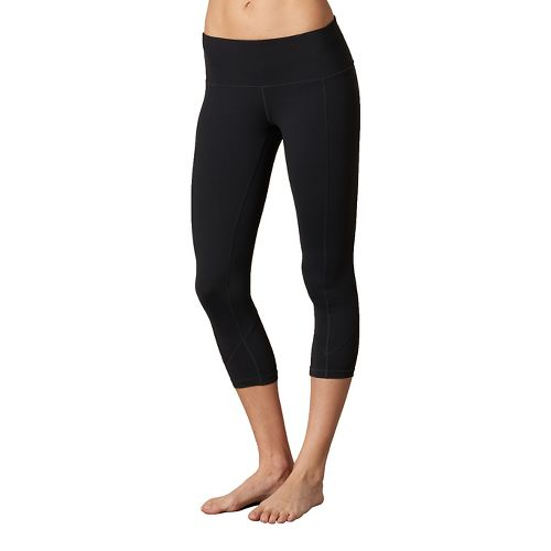 Womens Prana Prism Capri Pants - Black/Black L