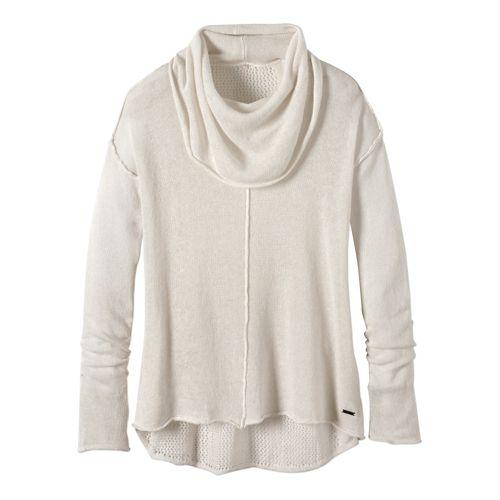 Womens Prana Minoo Sweater Long Sleeve No Zip Non-Technical Tops - Plum L