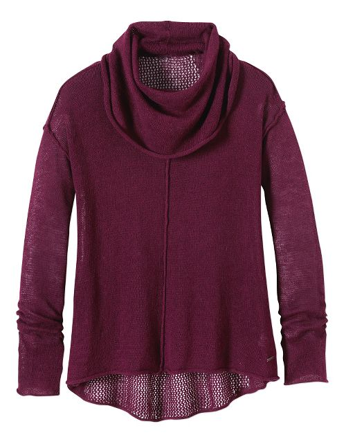 Womens Prana Minoo Sweater Long Sleeve No Zip Non-Technical Tops - Plum L