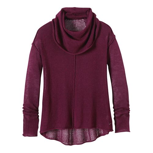 Womens Prana Minoo Sweater Long Sleeve No Zip Non-Technical Tops - Plum S