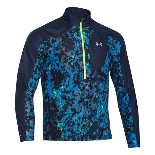 Mens Under Armour Storm Launch Pullover Long Sleeve Half Zip Technical Tops - Jet Blue ...