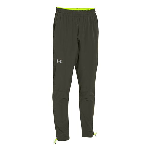 Mens Under Armour ArmourVent Storm Run Full Length Pants - Rifle Green XL