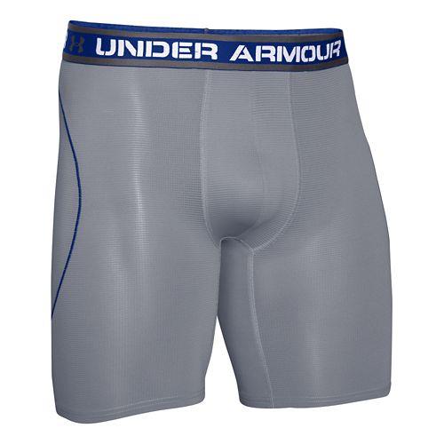 Mens Under Armour ISO Chill 9 BoxerJock Boxer Brief Underwear Bottoms - Graphite/White 3XL