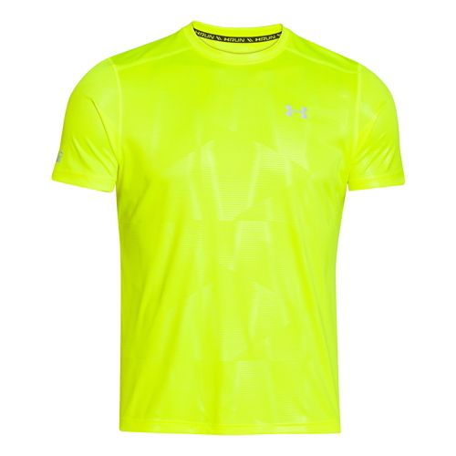 Mens Under Armour Coldblack Run T Short Sleeve Technical Tops - High-Vis Yellow L
