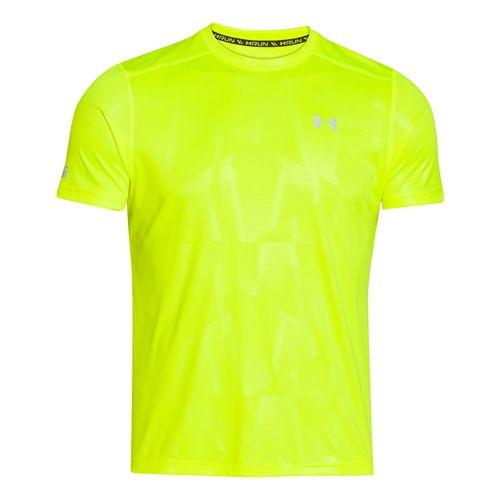 Mens Under Armour Coldblack Run T Short Sleeve Technical Tops - High-Vis Yellow XXL