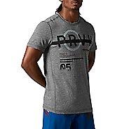 Mens Reebok CrossFit Tri-Blend Short Sleeve Graphic Technical Tops