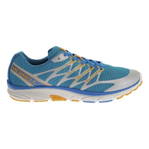 Mens Merrell Bare Access Ultra Trail Running Shoe - Blue/Orange 9