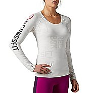 Womens Reebok CrossFit Burnout Long Sleeve No Zip Technical Tops