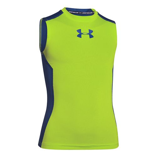 Kids Under Armour�Up HeatGear Fitted Sleeveless T