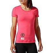 Womens Reebok CrossFit Burnout Short Sleeve Technical Tops