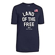 Kids Under Armour Land Of The Free T Short Sleeve Technical Tops