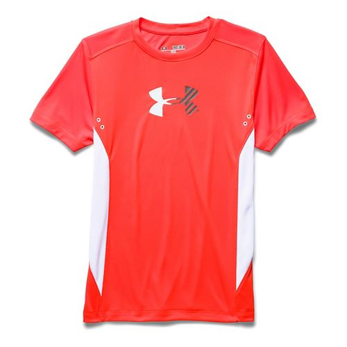 Kids Under Armour Show Me Sweat UPF T Short Sleeve Technical Tops - Bolt Orange ...