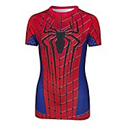 Kids Under Armour Alter Ego Amazing Spider Man Fitted Shirt Short Sleeve Technical Tops